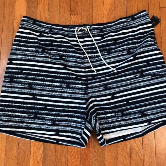 57baab7435 Nautica Swim | Mens 5x Navy White Stripe Ming Shorts | Poshmark